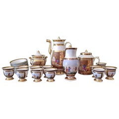 Early 19th Century French Old Paris Porcelain Tea and Chocolate Set