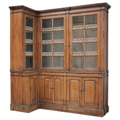 Early 19th Century French Painted Country, Corner Display Cabinet