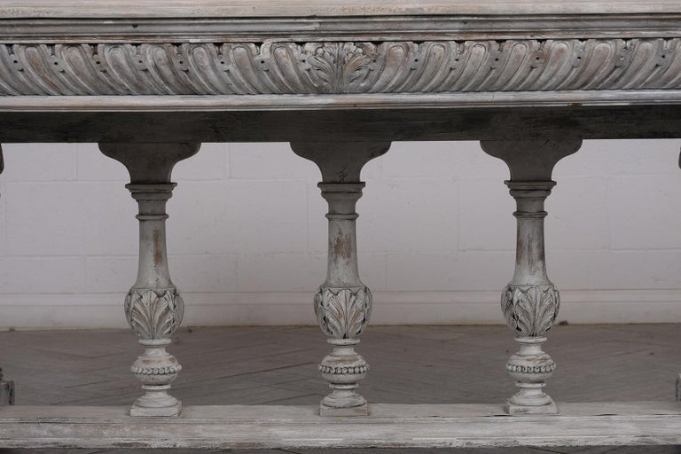 Polished Early 19th Century French Renaissance Style Library Table For Sale