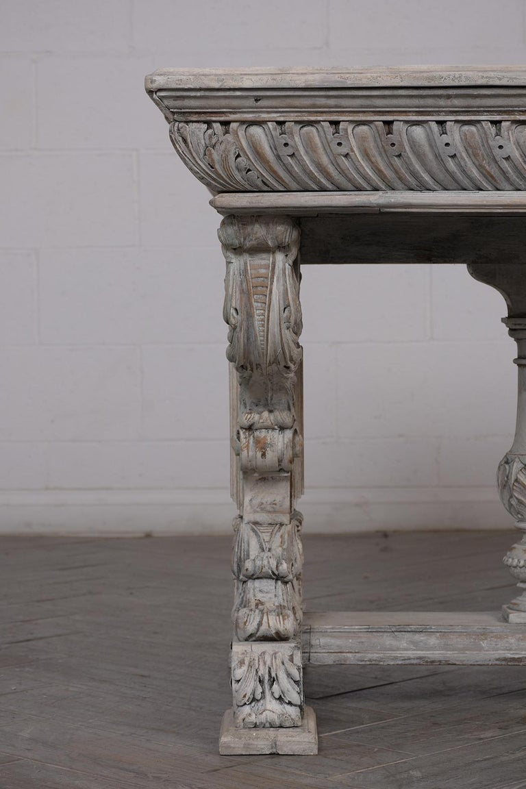 Mid-19th Century Early 19th Century French Renaissance Style Library Table For Sale