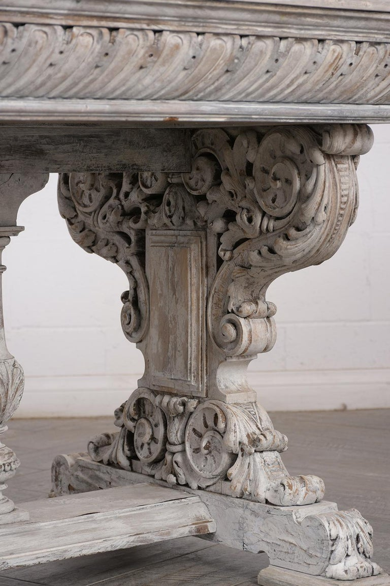 Early 19th Century French Renaissance Style Library Table For Sale 1