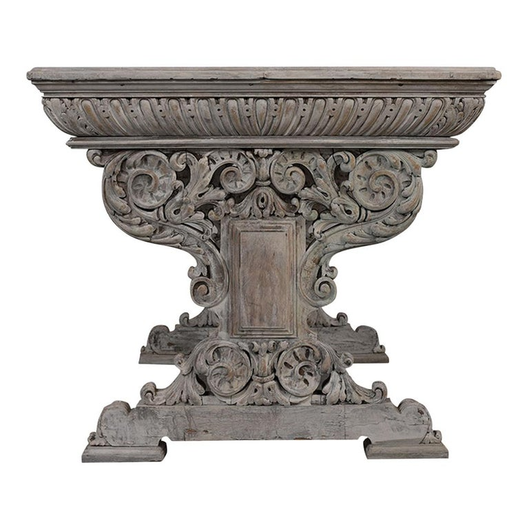 Early 19th Century French Renaissance Style Library Table For Sale 2