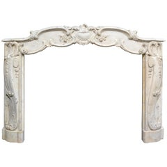 Early 19th Century French Rococo Mantelpiece