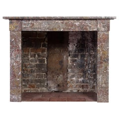 Early 19th Century French Rouge Marble Fireplace