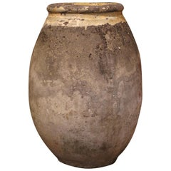 Early 19th Century French Terracotta Olive Jar from Provence