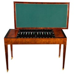 Early 19th Century French Tric-Trac or Backgammon Games Table