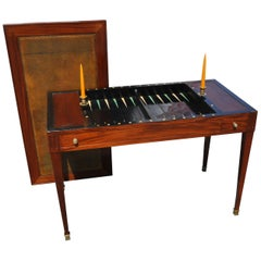 Early 19th Century French Tric-Trac or Backgammon Table