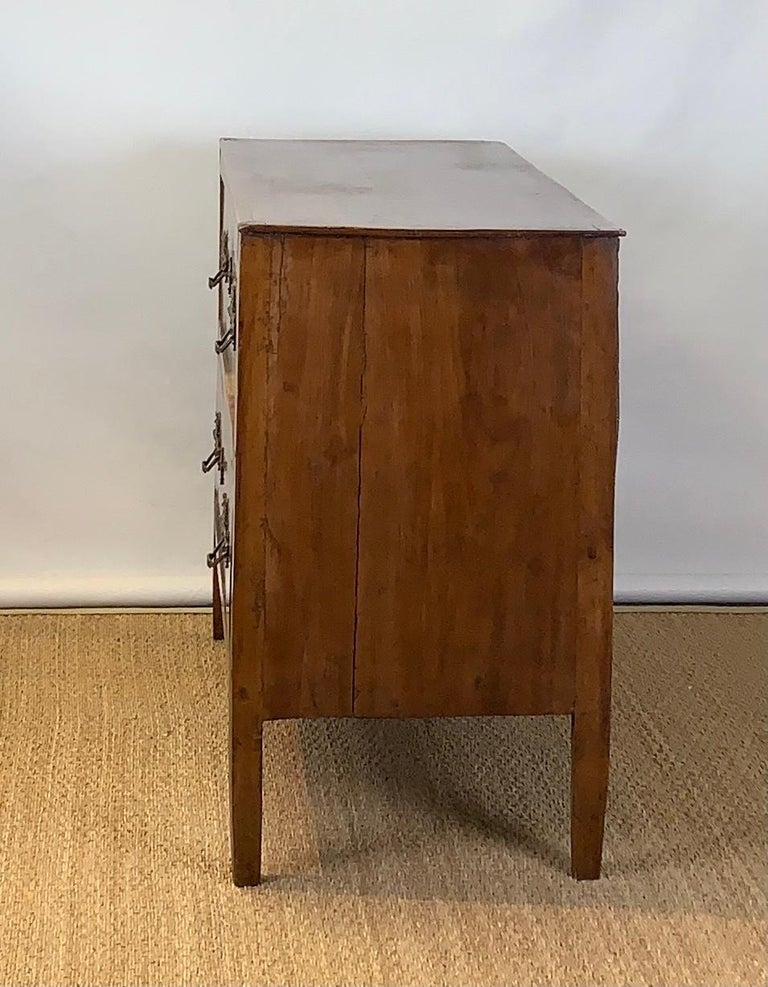 Hand-Crafted Early 19th Century French Two-Drawer Commode For Sale