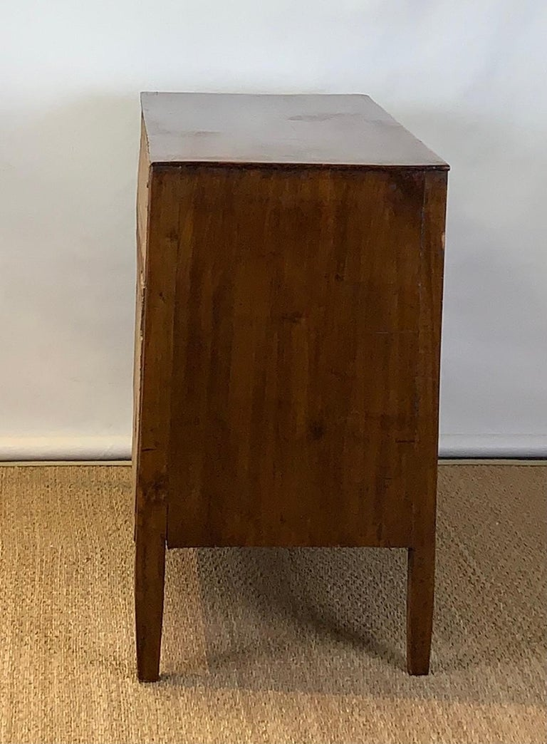 Fruitwood Early 19th Century French Two-Drawer Commode For Sale