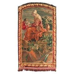 Early 19th Century French Wall Hanging Hand Woven Aubusson Tapestry