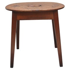 Early 19th Century Fruitwood Stool