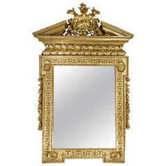 Early 19th Century George I Carved Giltwood Mirror, circa 1820