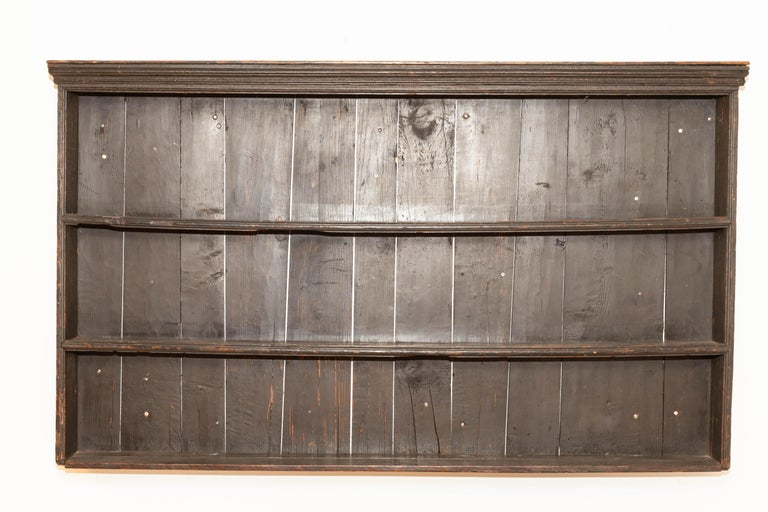 English Early 19th Century George III Pine Plate Rack For Sale