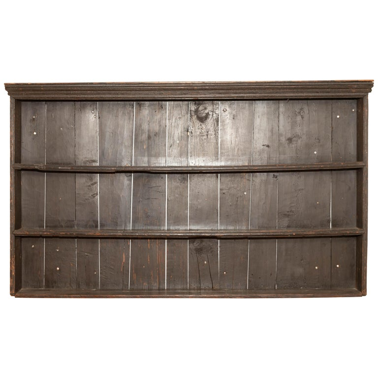 Early 19th Century George III Pine Plate Rack For Sale