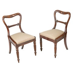Early 19th Century George IV Pair of Chairs by Gillows of Lancaster and London