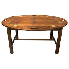 Early 19th Century Georgian Butlers Tray Top Coffee Table in Mahogany