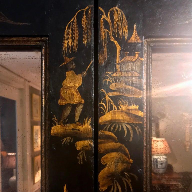 Early 19th Century Georgian Chinoiserie Bureau Bookcase For Sale 7