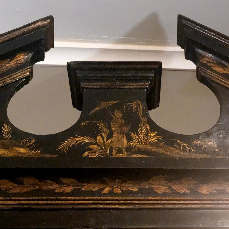 Early 19th Century Georgian Chinoiserie Bureau Bookcase For Sale 4