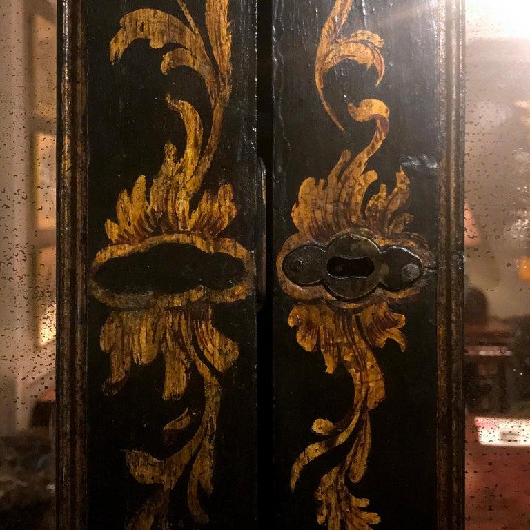 Early 19th Century Georgian Chinoiserie Bureau Bookcase For Sale 5