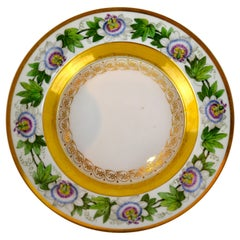 Early 19th Century German Berlin KPM Passion Flower Botanical Plate