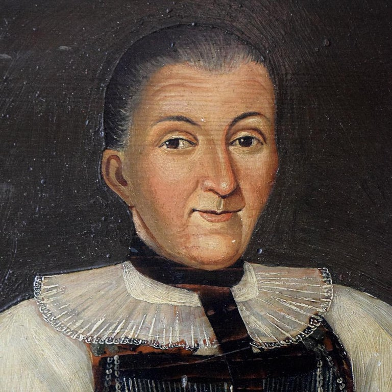 Early 19th Century German Folk Art Oil on Panel Paintings In Good Condition For Sale In London, GB
