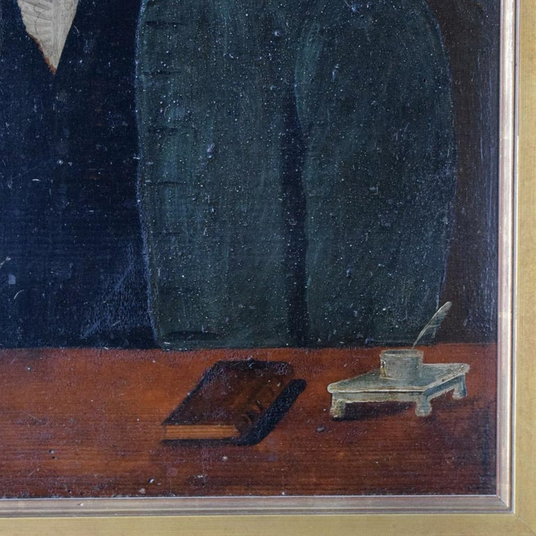 Early 19th Century German Folk Art Oil on Panel Paintings For Sale 1