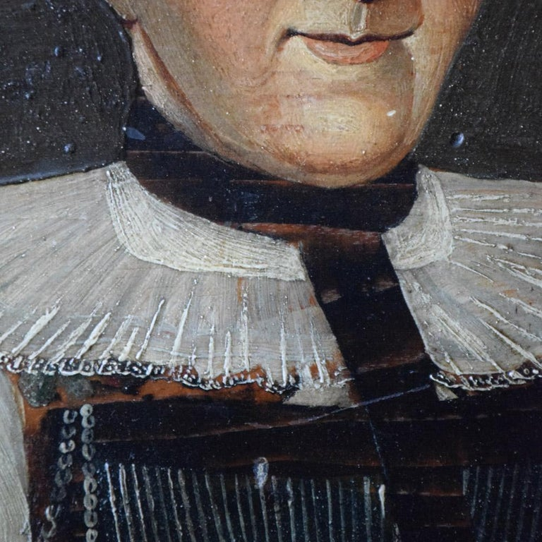 Early 19th Century German Folk Art Oil on Panel Paintings For Sale 2