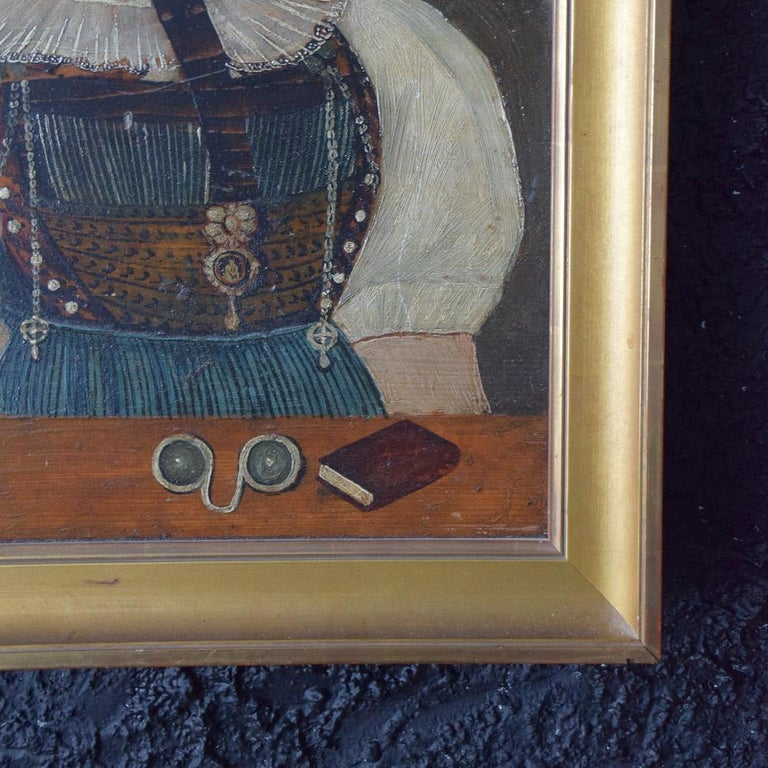 Early 19th Century German Folk Art Oil on Panel Paintings For Sale 3