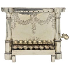 Early 19th Century German Silver Hanukkah Lamp Menorah