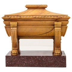 Early 19th Century Giallo Antica Tomb of Agrippa on Porphyry Base