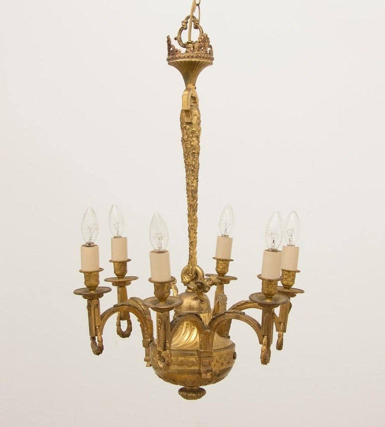 British Early 19th Century Gilded and Brass Centre Light For Sale