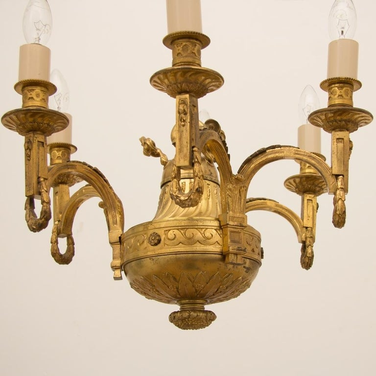 Early 19th Century Gilded and Brass Centre Light In Good Condition For Sale In London, Greenwich