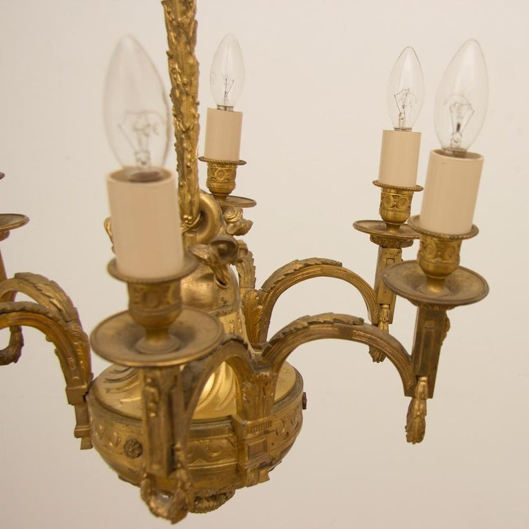 Early 19th Century Gilded and Brass Centre Light For Sale 1