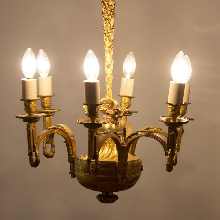 Early 19th Century Gilded and Brass Centre Light For Sale 2