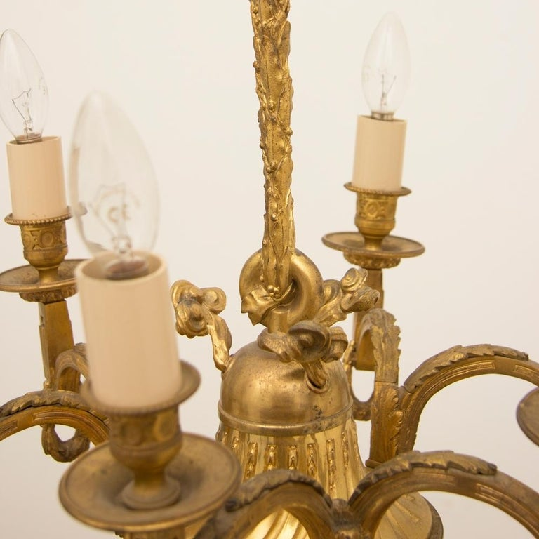 Early 19th Century Gilded and Brass Centre Light For Sale 4