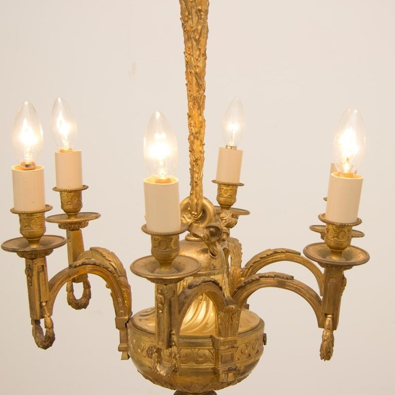 Early 19th Century Gilded and Brass Centre Light For Sale 5