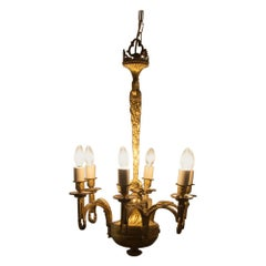 Early 19th Century Gilded and Brass Centre Light