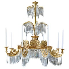 Early 19th Century Gilt Neoclassical Chandelier by Schinkel