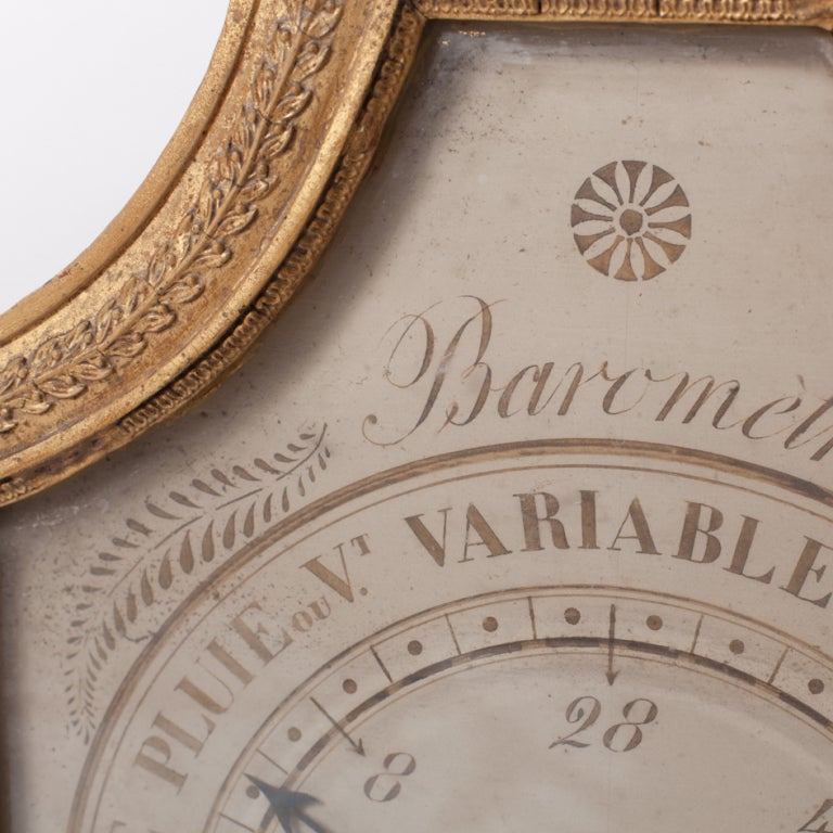 Directoire Early 19th Century Giltwood Barometer