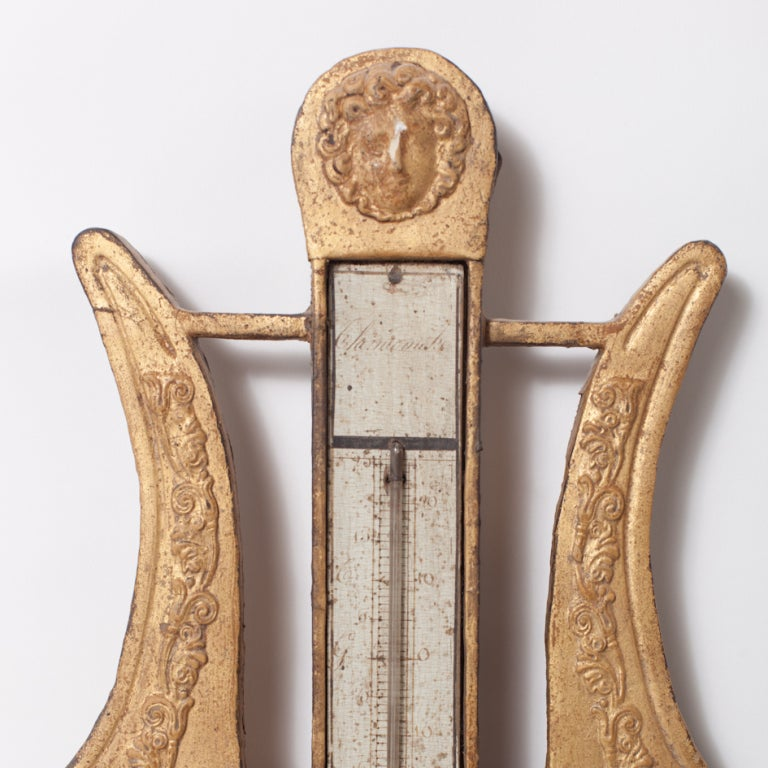 Wood Early 19th Century Giltwood Barometer