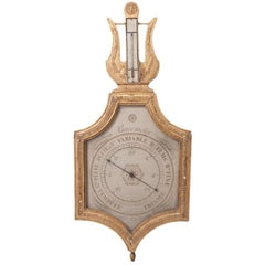 """Early 19th Century Giltwood Barometer """"Selon Toricelli"""""""