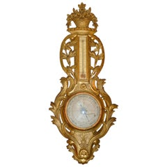 Early 19th Century Giltwood Louis XVI Barometer