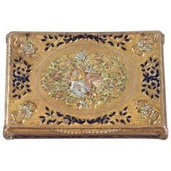 Early 19th Century Gold and Enamel Box, Swiss Work