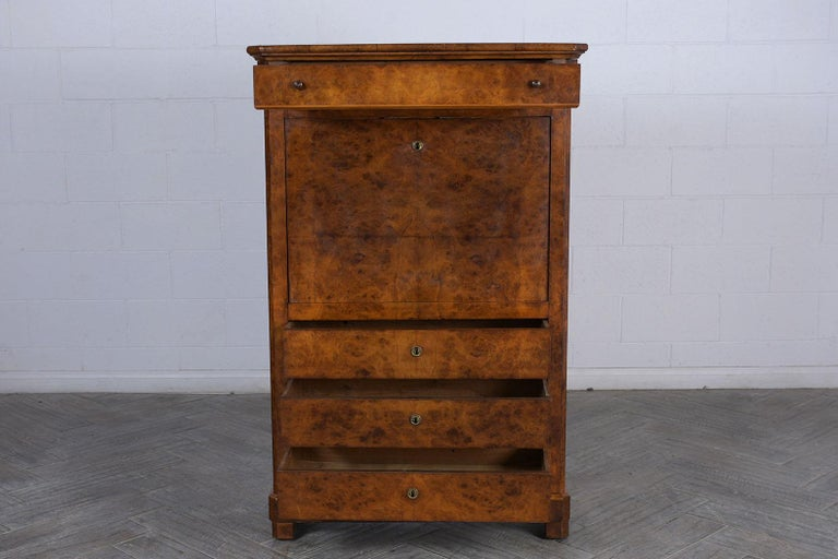 Felt 19th Century Louis Philippe Secretaire For Sale