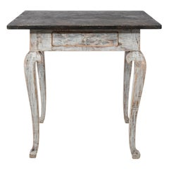 Early 19th Century Grey Painted Swedish Table