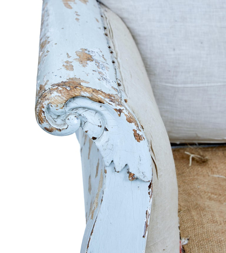 Early 19th Century Gustavian Painted Pine Sofa Bed For Sale 4
