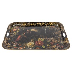 Early 19th Century Hand Painted Toleware Tray