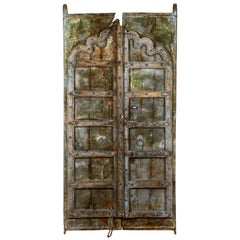 Early 19th Century Heavy Decorative Indian Door