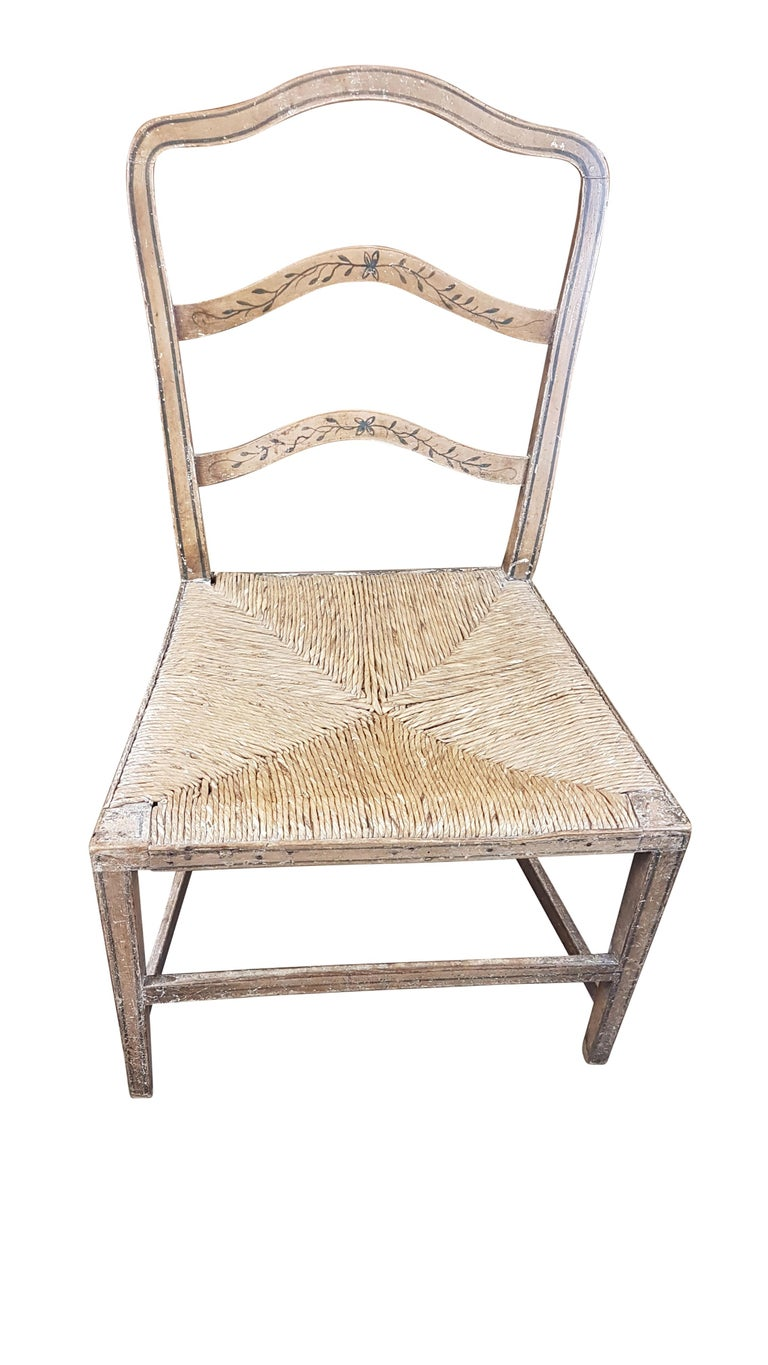 George III Early 19th Century Georgian Chair in Original Painted Decoration For Sale