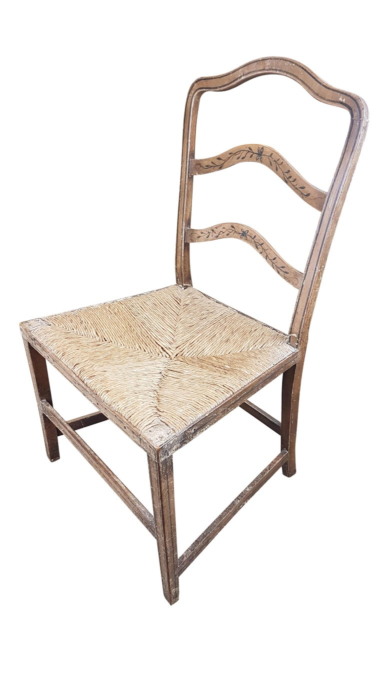 English Early 19th Century Georgian Chair in Original Painted Decoration For Sale